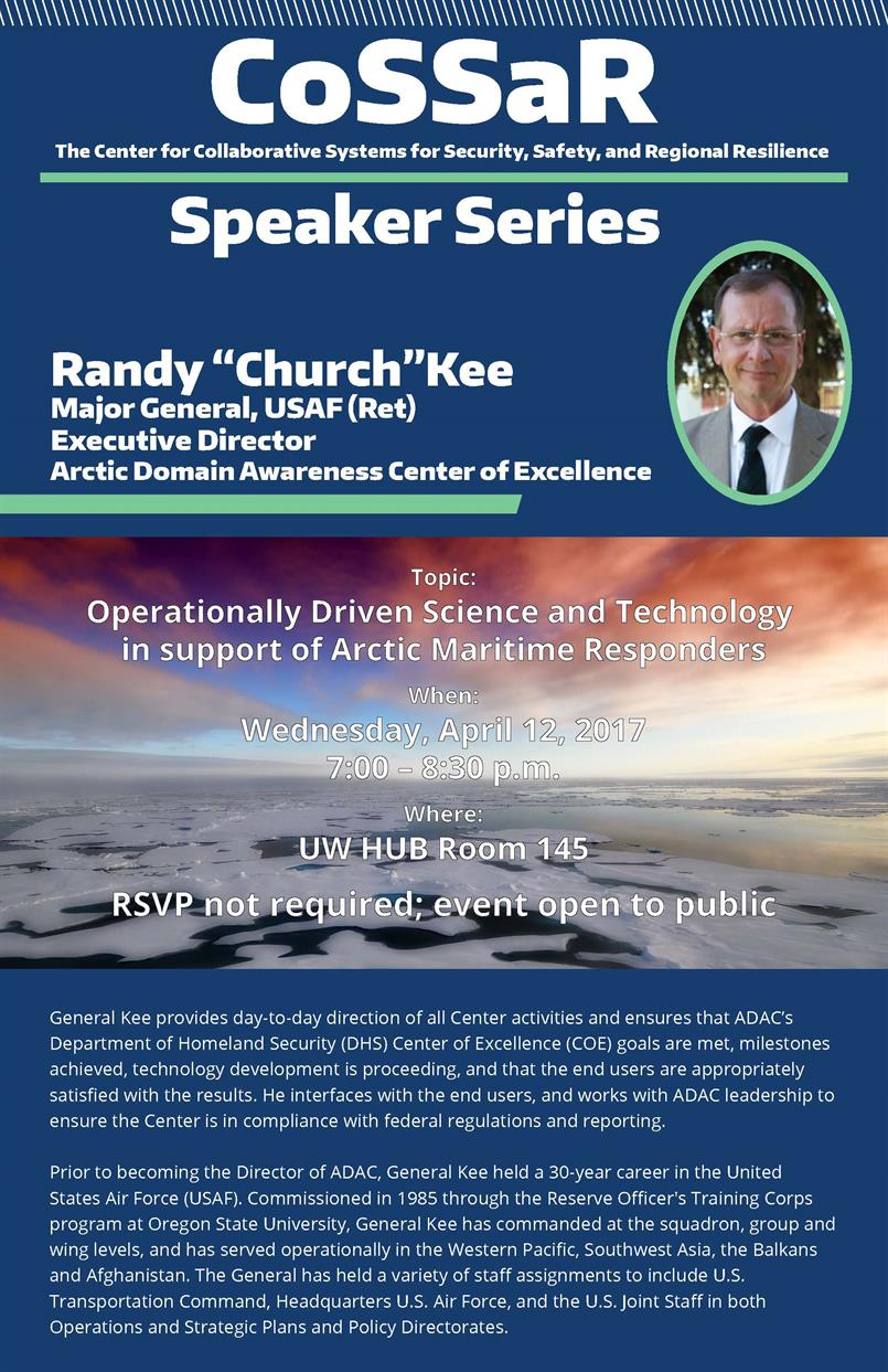 CoSSaR Speaker Series: Randy Key, Major General USAF