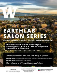 SALON: How We Present Native Knowledge is Environmental Justice:  A case for Indigenous storytelling in museums