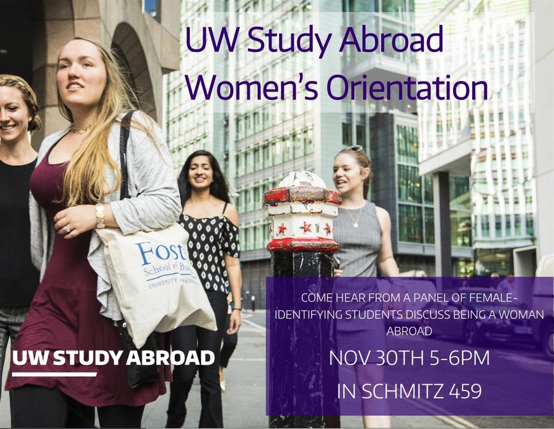 UW Study Abroad: Women's Orientation