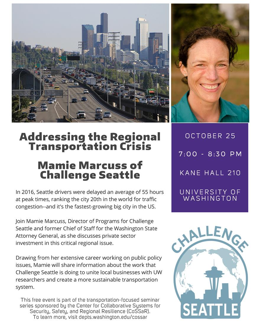 CoSSaR Seminar Series: Addressing the Regional Transportation Crisis