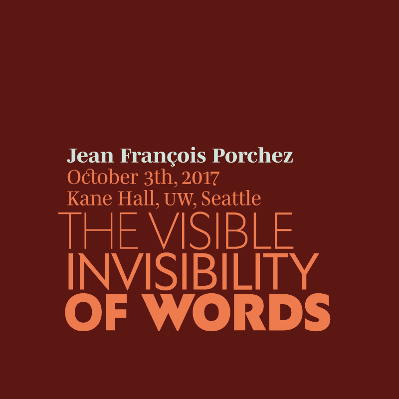 Jean François Porchez: The Visible Invisibility of Words