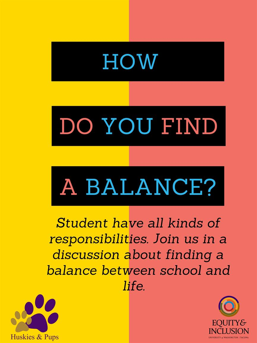 How do you find a balance?