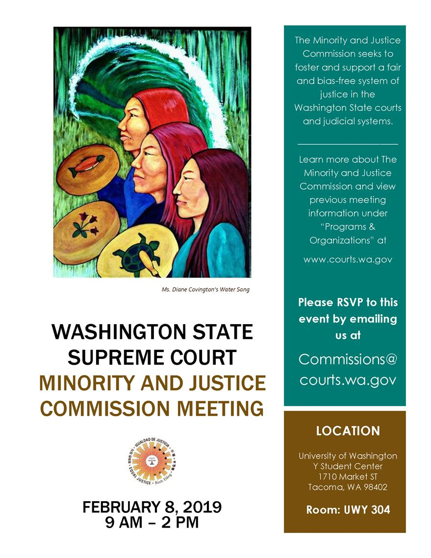 Minority and Justice Commission Meeting