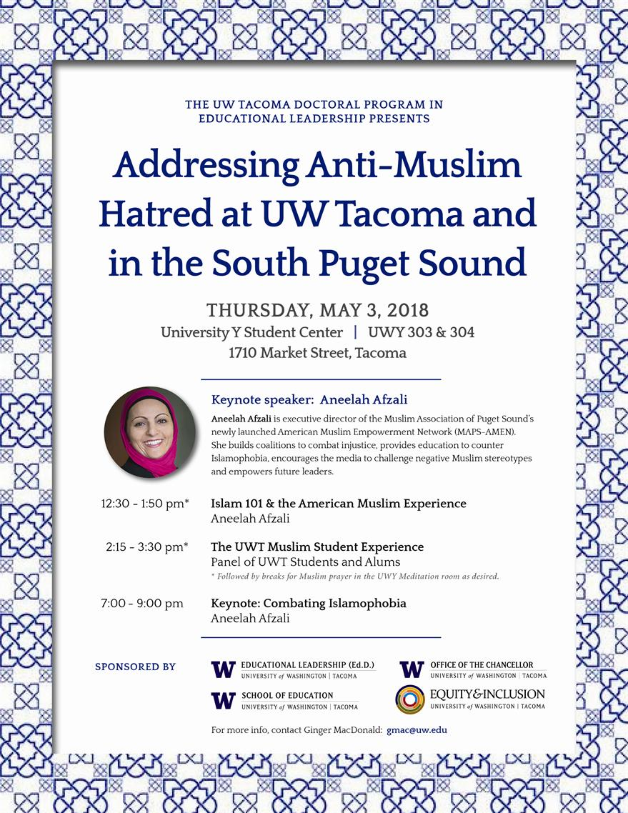 Addressing Anti-Muslim Hatred at UW Tacoma and in the South Puget Sound