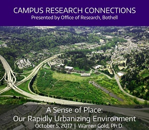 Campus Research Connections Series, Session 1 -  A Sense of Place: Our Rapidly Urbanizing Environment