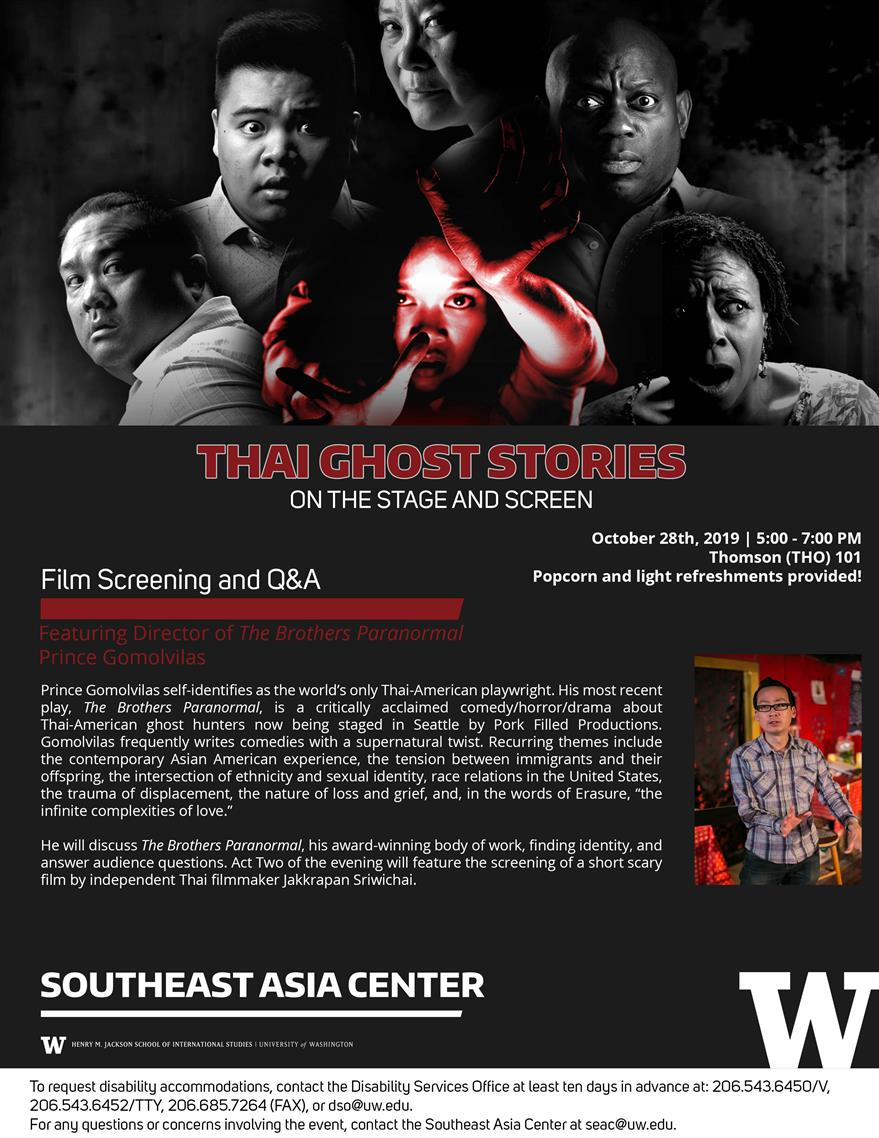 Thai Ghost Stories on the Stage and Screen