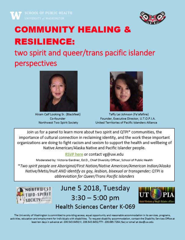 Community Healing and Resilience: Two Spirit and Queer/Trans Pacific Islander Perspectives