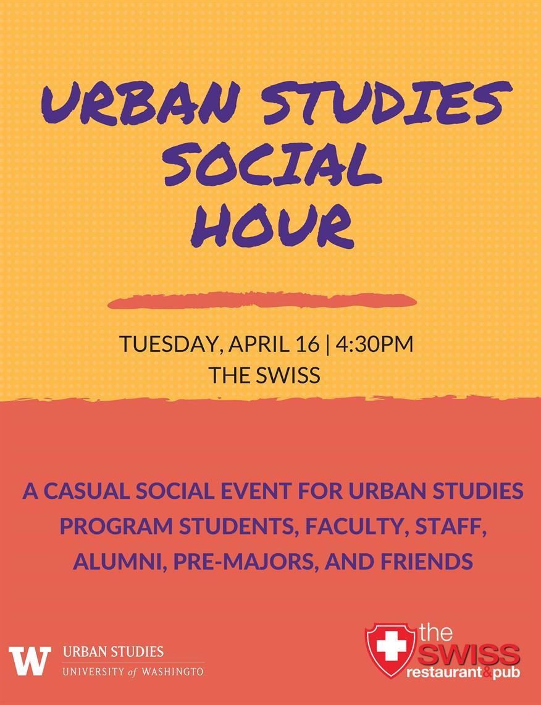Urban Studies Spring Social Hour