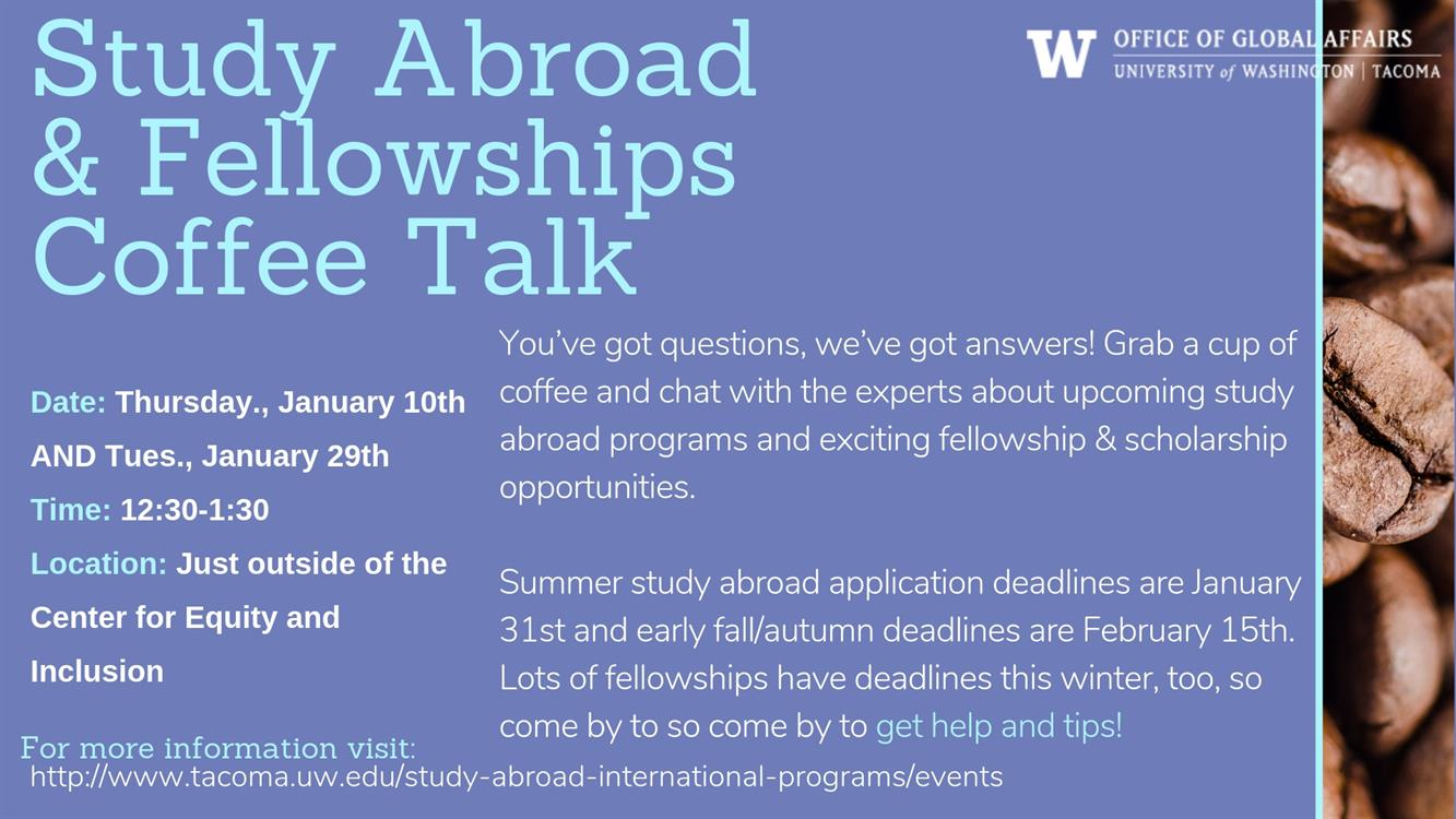 Study Abroad & Fellowships Coffee Talk
