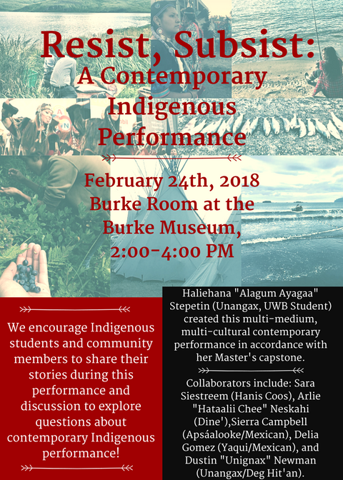 Resist, Subsist: A Contemporary Indigenous Performance
