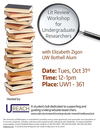 Lit Review Workshop for Undergraduate Researchers