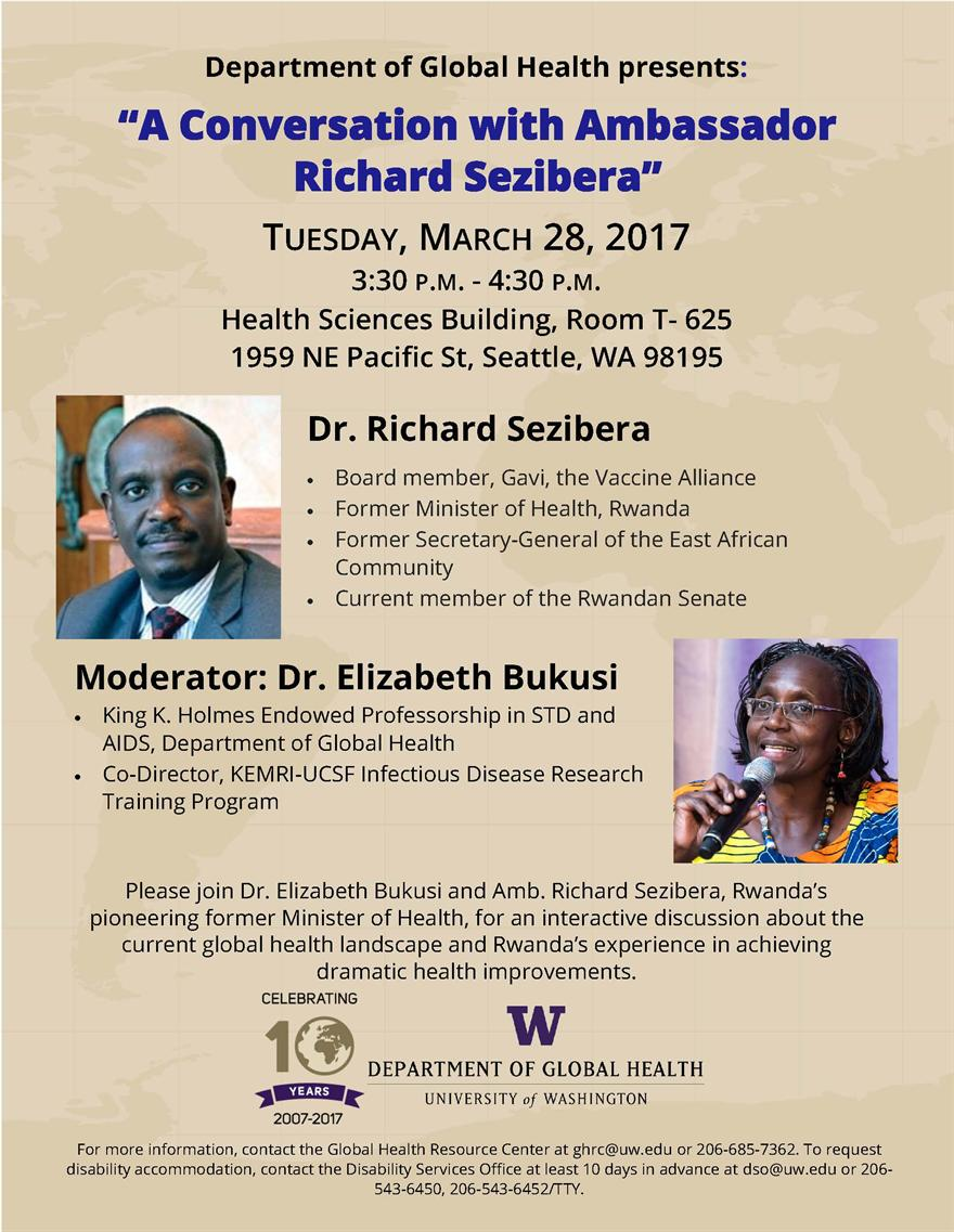 A Conversation with Ambassador Richard Sezibera, Rwanda's pioneering former Minister of Health