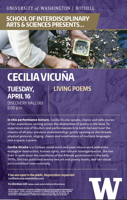 Living Poem with IAS Spring Distinguished Speaker Cecilia Vicuña