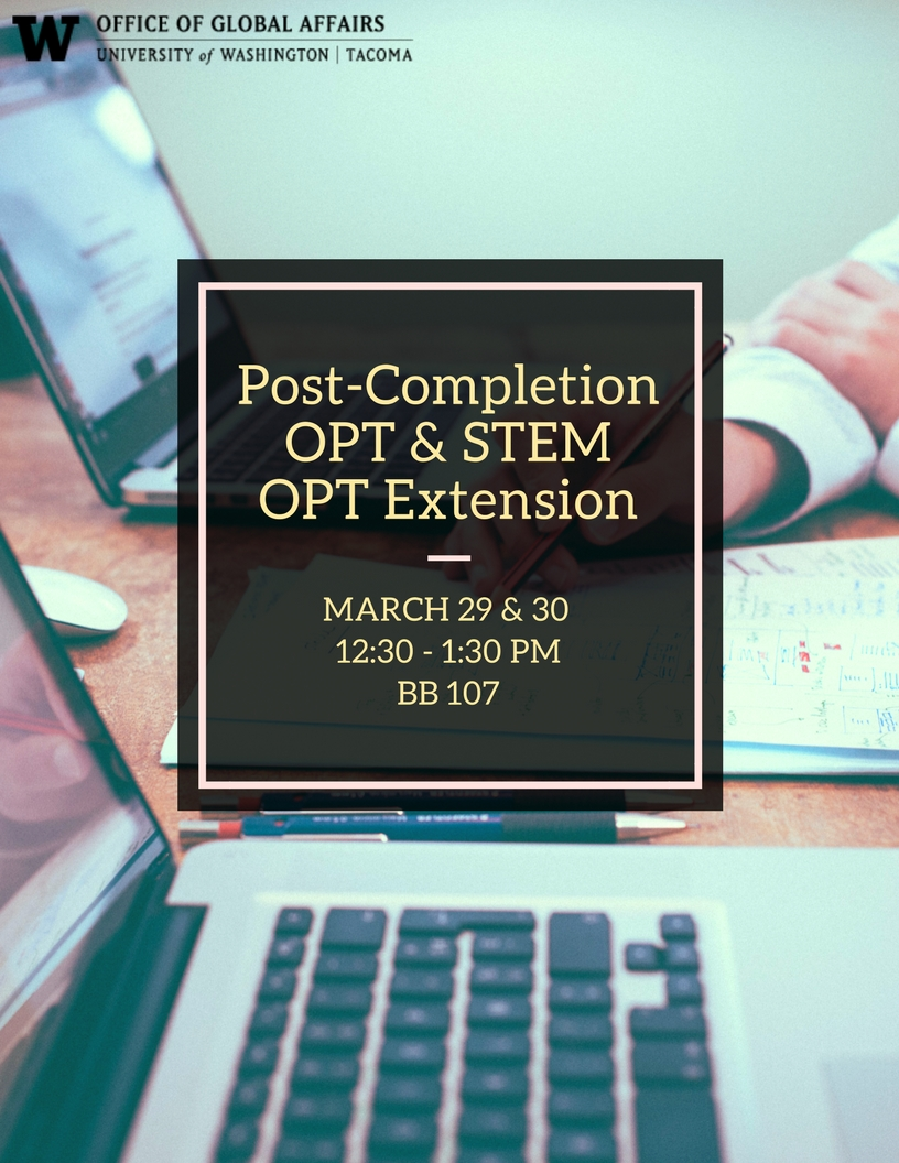 Post-Completion OPT & STEM Extension OPT Workshop