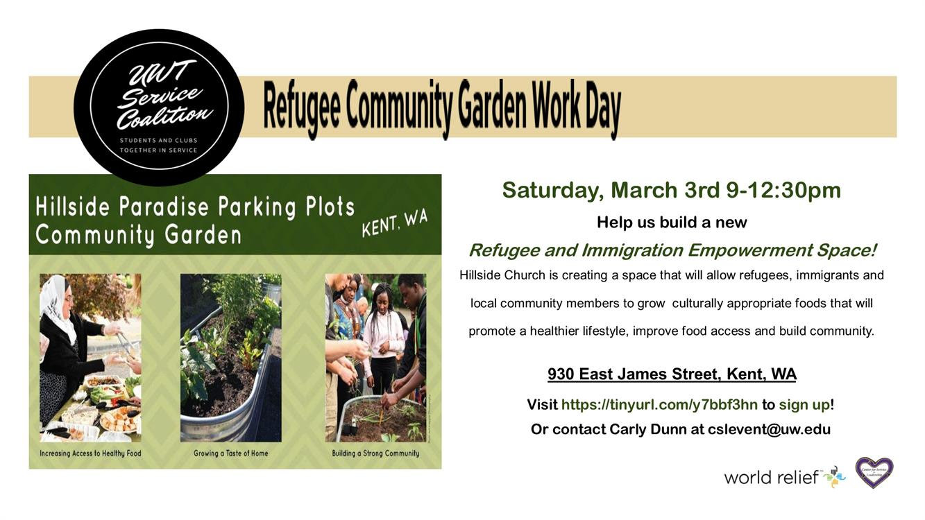 Refugee Community Garden Workday