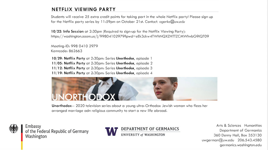 """Unorthodox"" - Netflix Viewing Party"