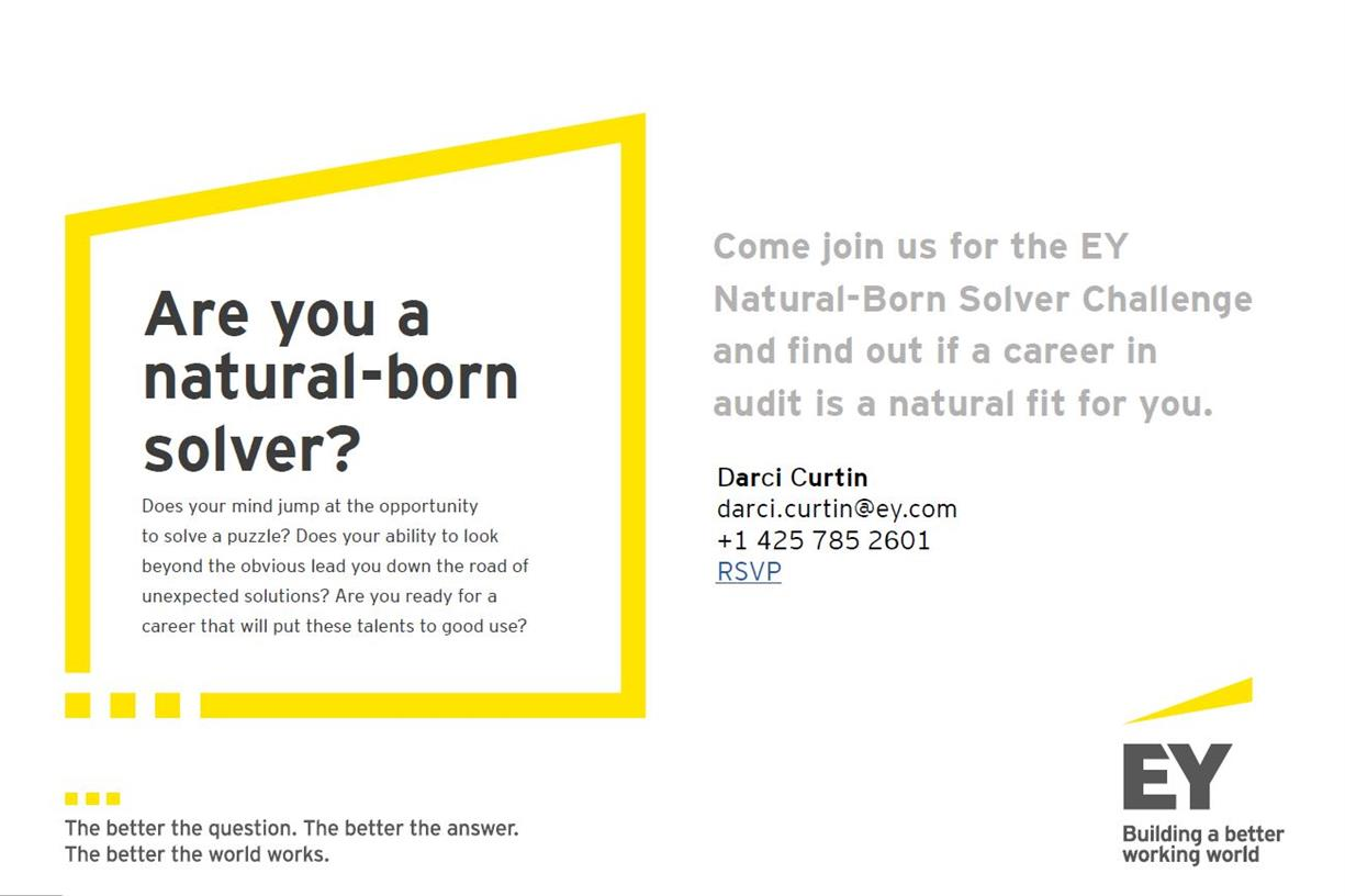 EY Natural Born Solvers