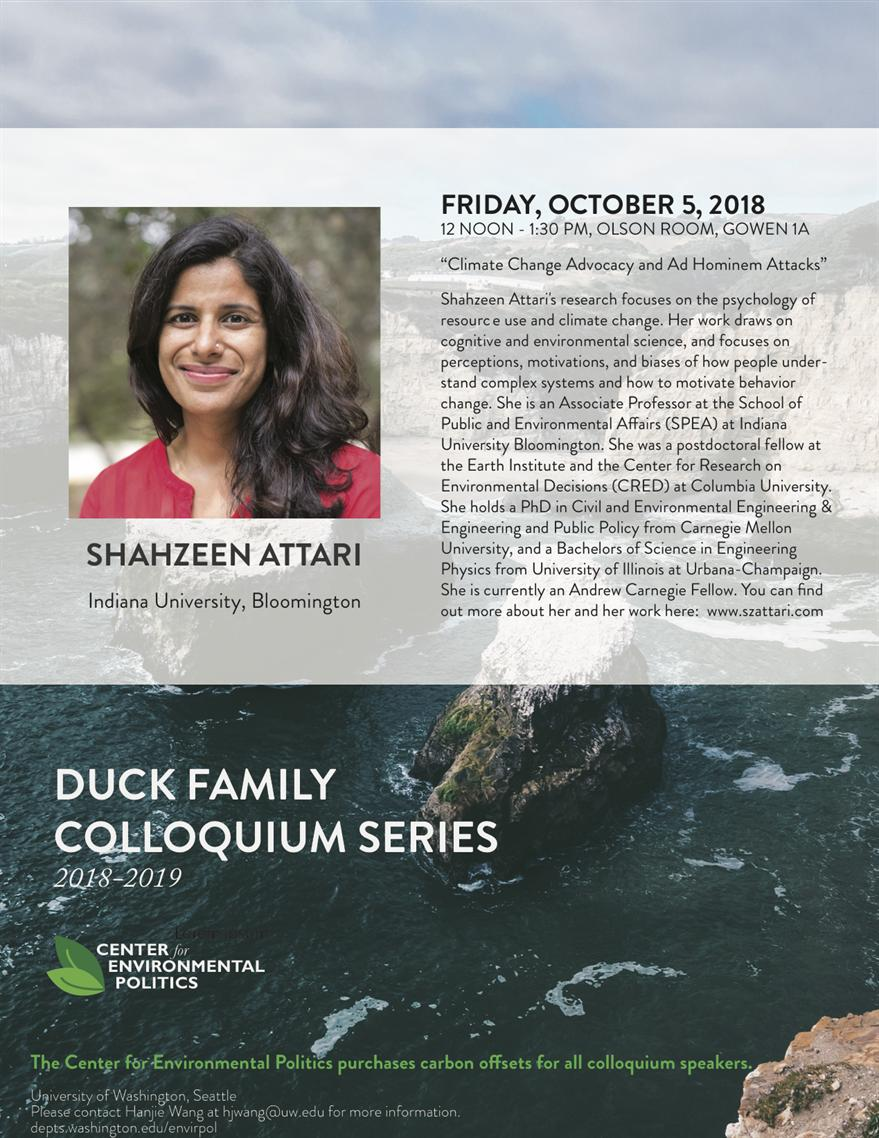 Shahzeen Attari: Climate Change Advocacy and Ad Hominem Attacks