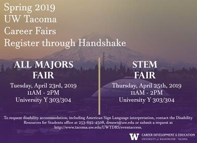 STEM CAREER FAIR (UWY 303/304)