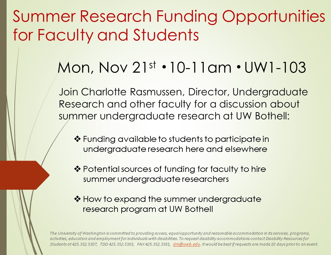 Summer Research Funding Opportunities for Faculty and Students