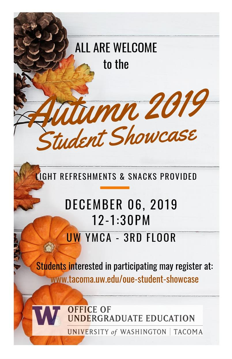 Autumn Undergraduate Student Showcase