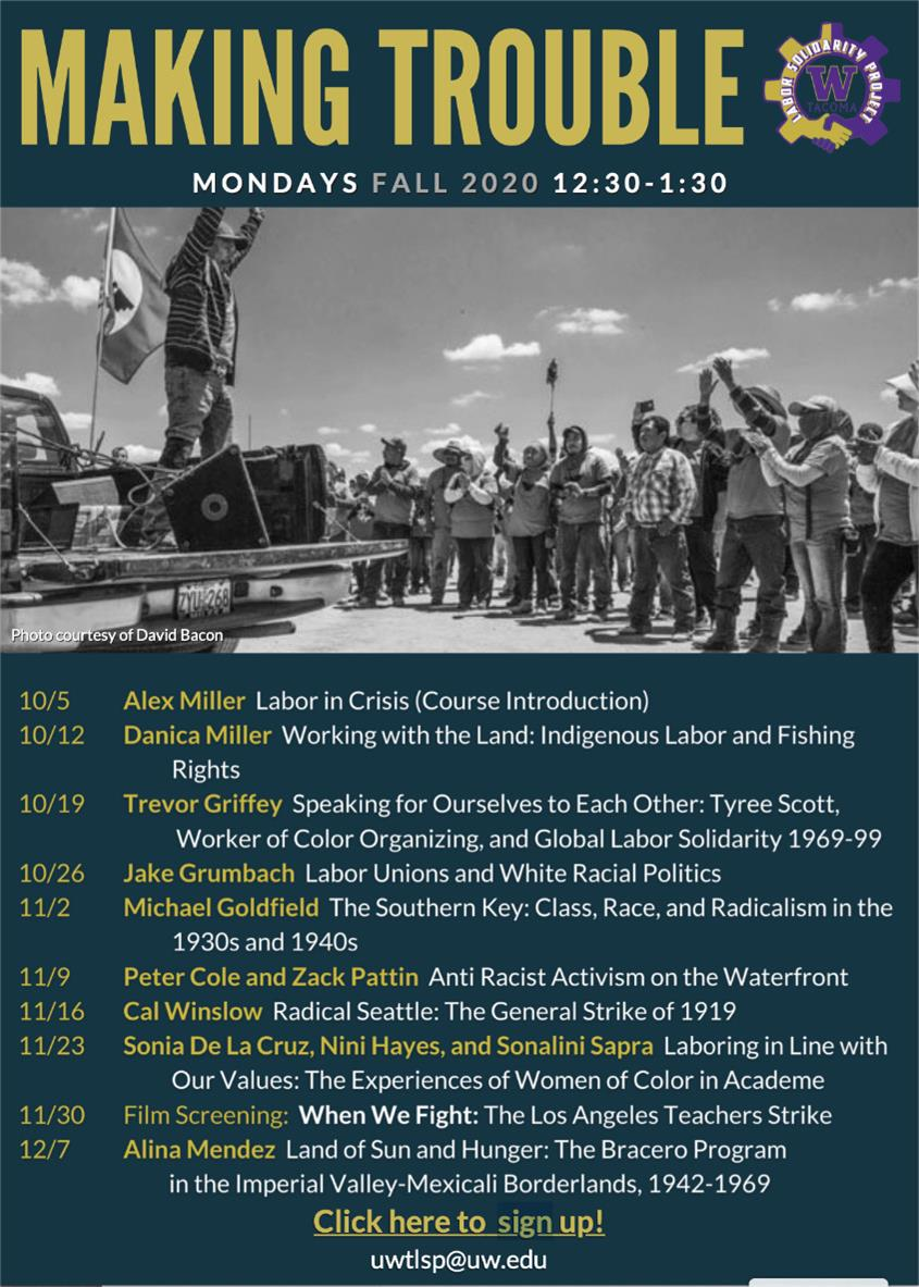 "Making Trouble Seminar Series: ""Anti-Racist Activism on the Waterfront,"" w/Peter Cole and Zack Pattin"