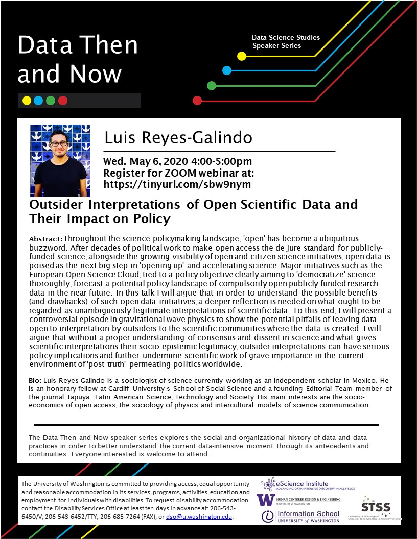 WEBINAR: Outsider interpretations of open scientific data and their impact on policy - Luis Reyes-Galindo